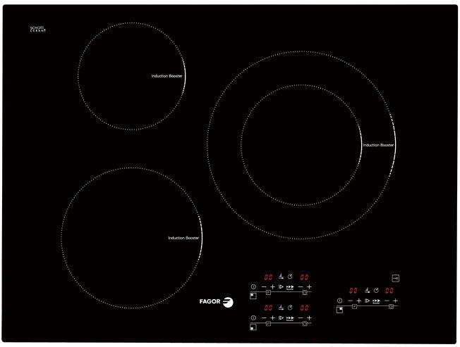 Bếp từ Fagor IF 700BS, bếp điện tự 3 bếp chính hãng