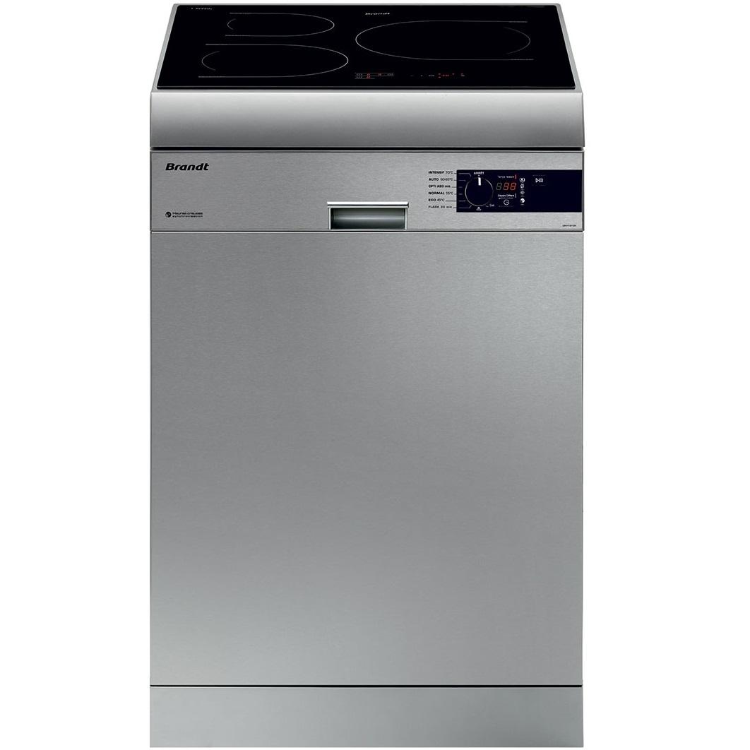 Máy rửa bát Brandt DKH1310IX kết hợp bếp từ