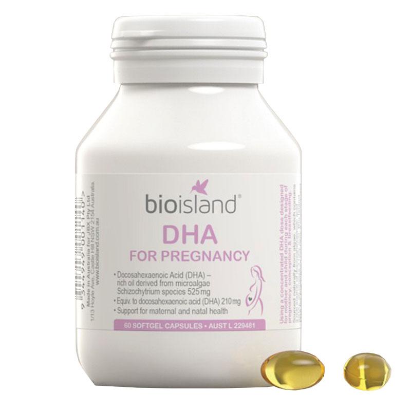 Viên uống bổ sung DHA cho bà bầu Bio Island 60 viên