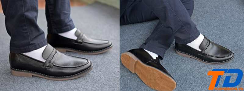 Giày lười da nam-2