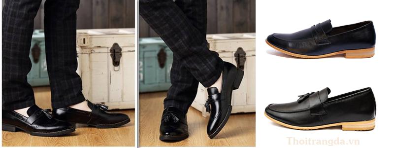 Cách mix đồ với giày lười nam