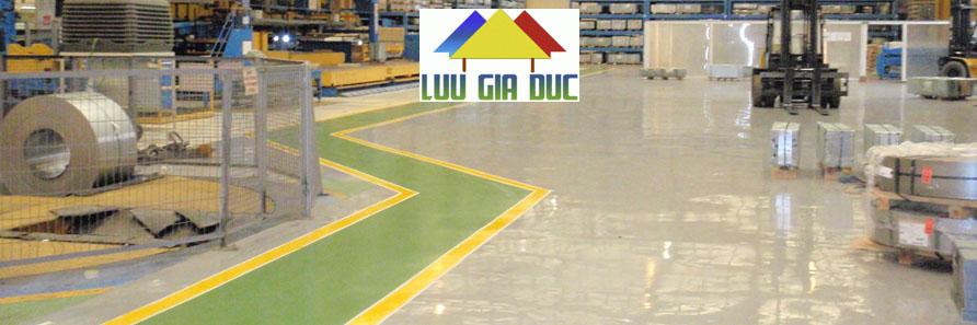Thi công sơn epoxy Nhà Máy SX Bao Bì
