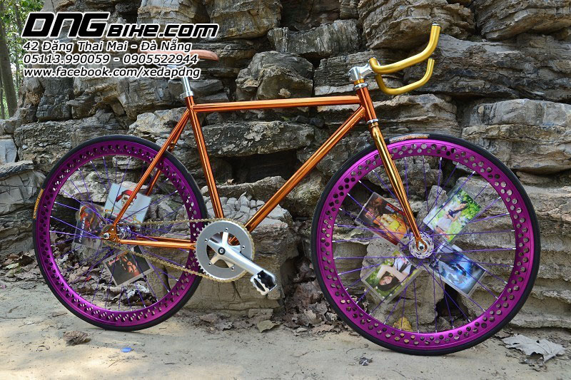 Vành xe đạp Fixed Gear 700c mạ crom
