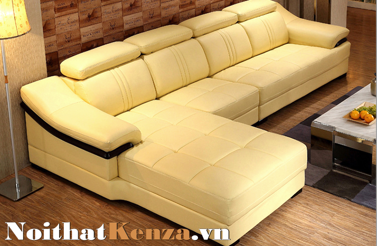 Sofa góc chữ L màu vàng kem SG 09