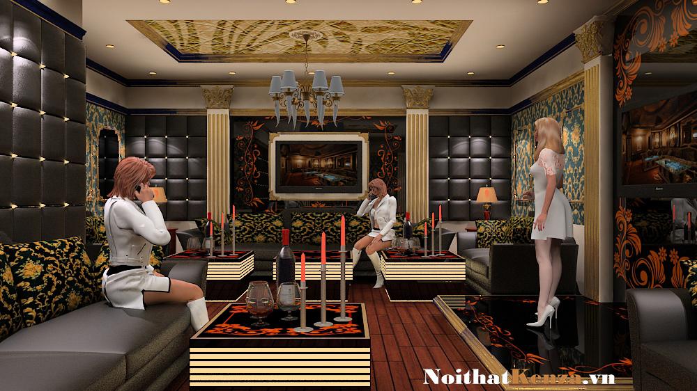 thiết kế phòng hát