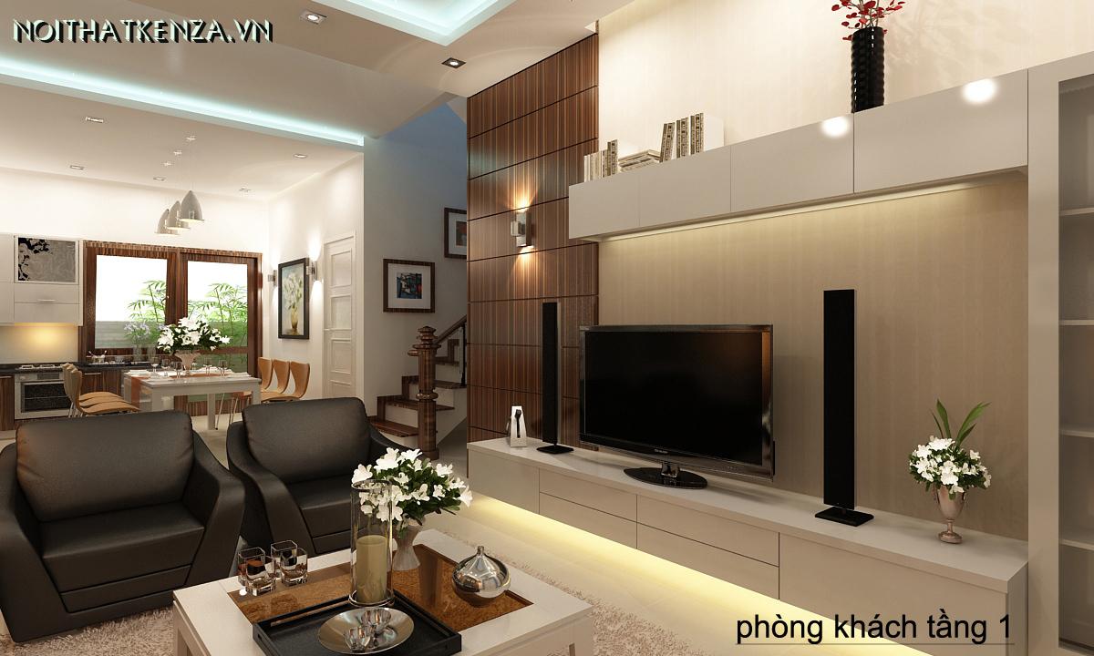 thiết kế phòng khách ấn tượng 5
