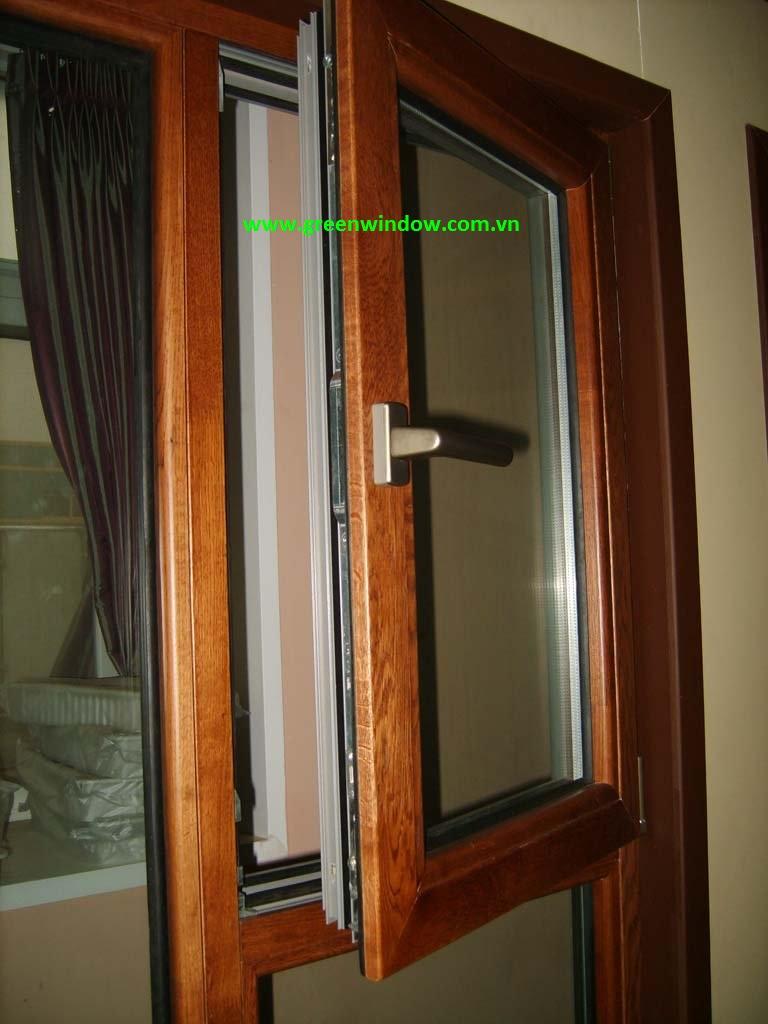 cửa sổ nhưạ lõi thép vân gỗ