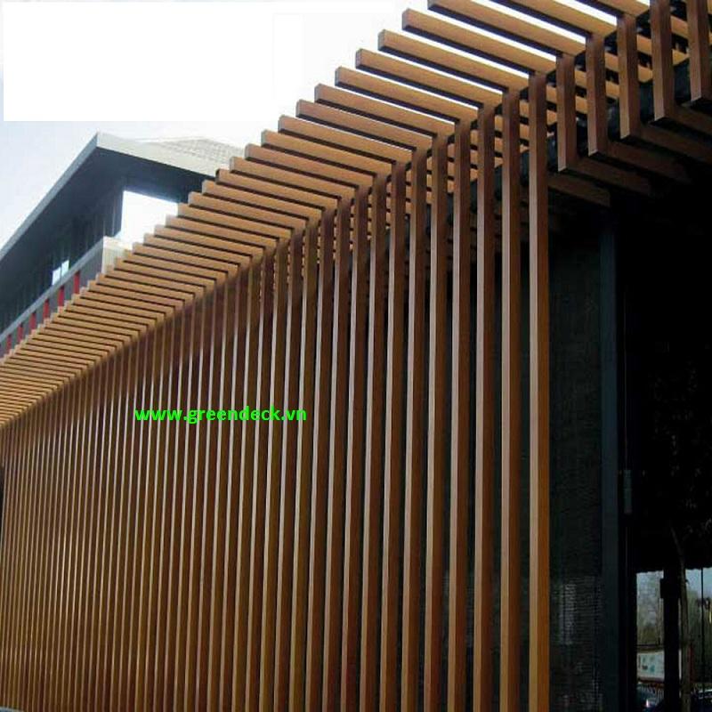 Lam gỗ trang trí ngoại thất