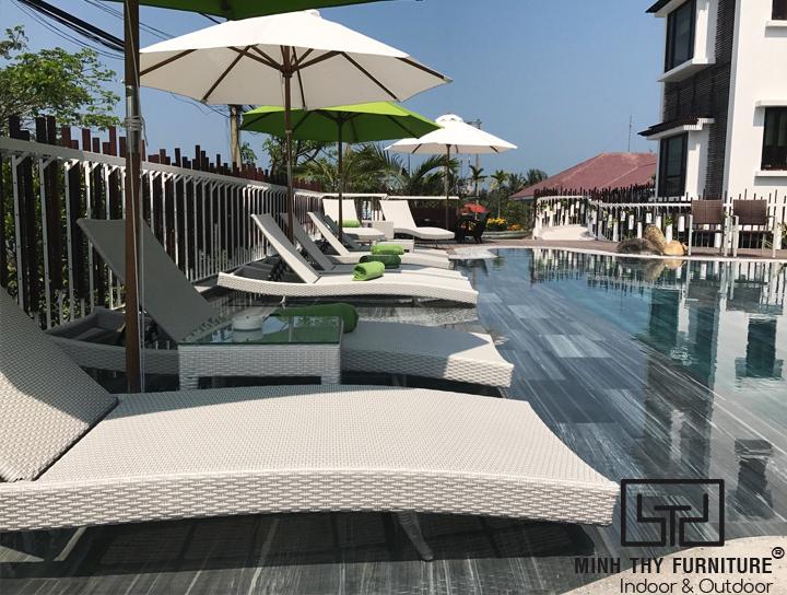 Minh Thy Furniture cung cấp ghế hồ bơi tại THE VILLA HOIAN - Boutique Hotel
