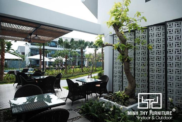 Senvila Boutique Hoi An Resort & Spa chọn Minh Thy Furniture là nhà cung cấp Bàn Ghế Giả Mây