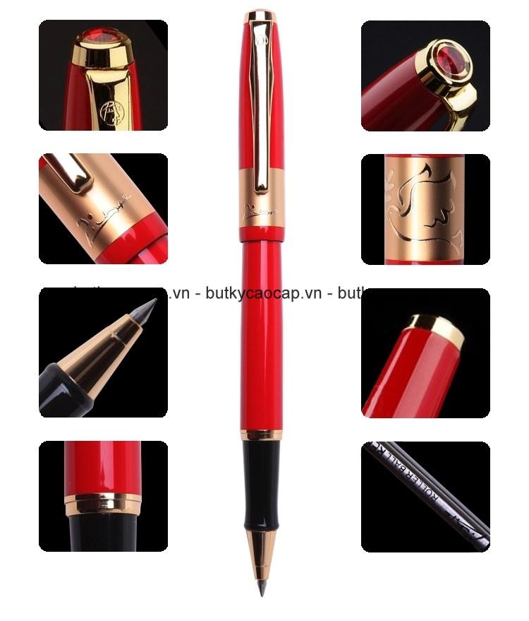 Chi tiết thiết kế bút cao cấp picasso 923 màu đỏ