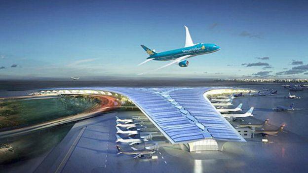 Sân bay Long Thành dự kiến sẽ trở thành trung tâm trung chuyển trong khu vực