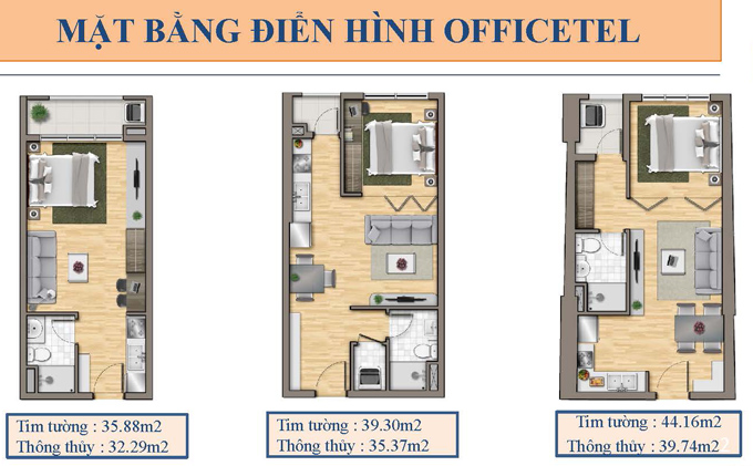 dien tich office-tel