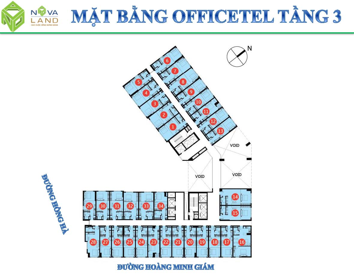 mat bang tang officetel