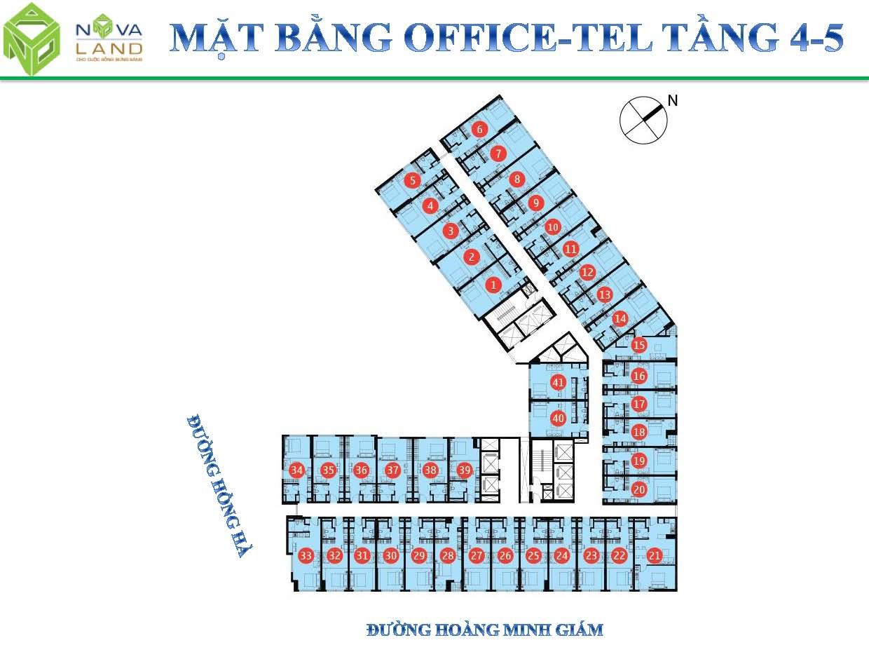 mat bang tang officetel tang 4,5