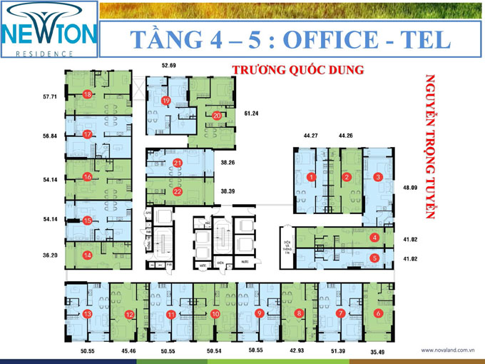 newton-officetel tang 4-5