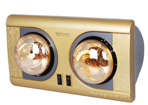 Đèn sưởi nhà tắm 2 bóng tiện dụng, thích hợp cho mọi gia đình