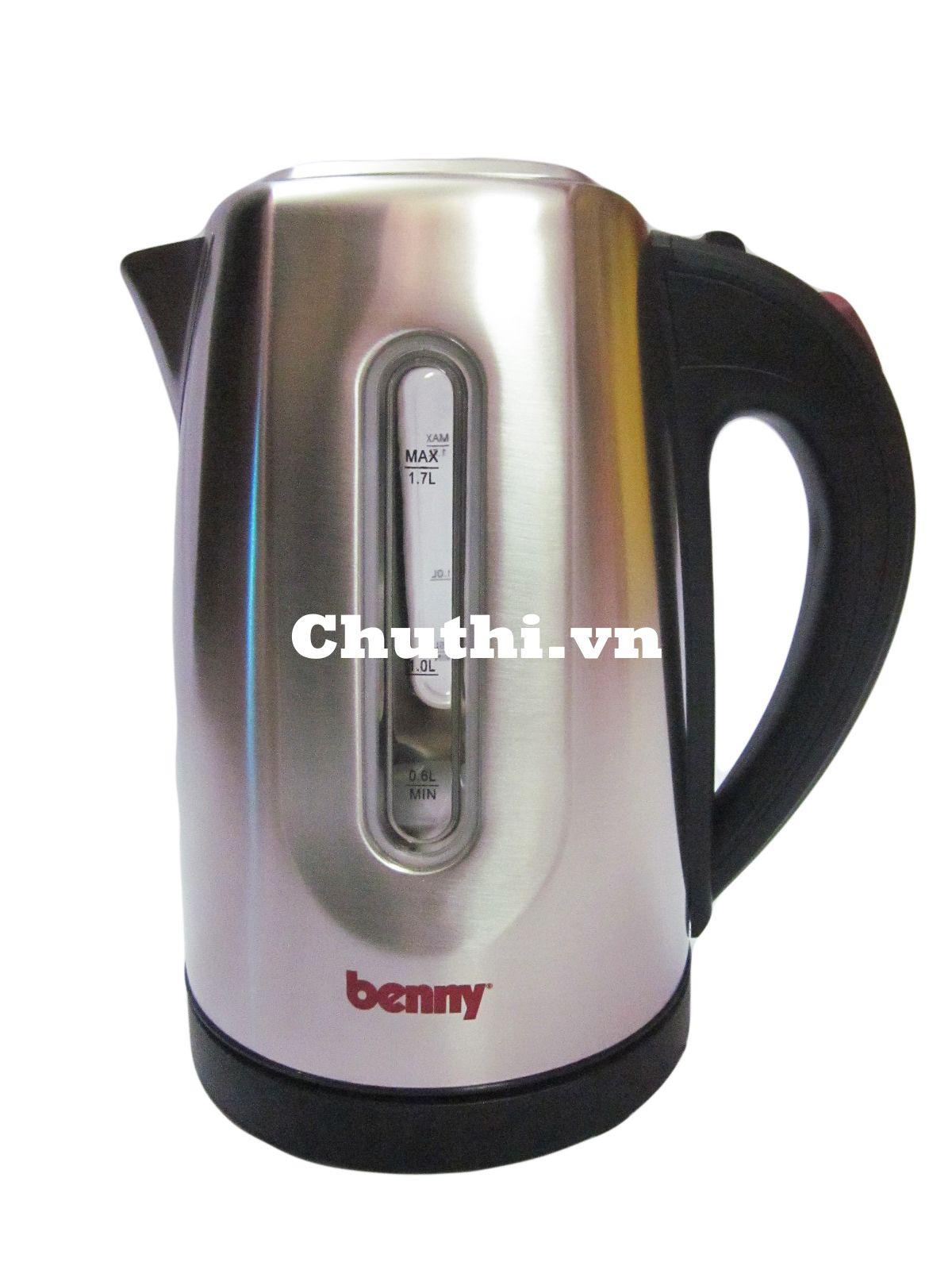 Ấm siêu tốc Benny BJ21 màu đen bạc sang trọng cho căn nhà bạn
