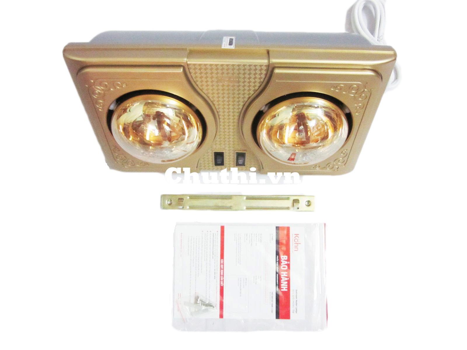 Bộ sản phẩm đèn sưởi nhà tắm Hans KE02G