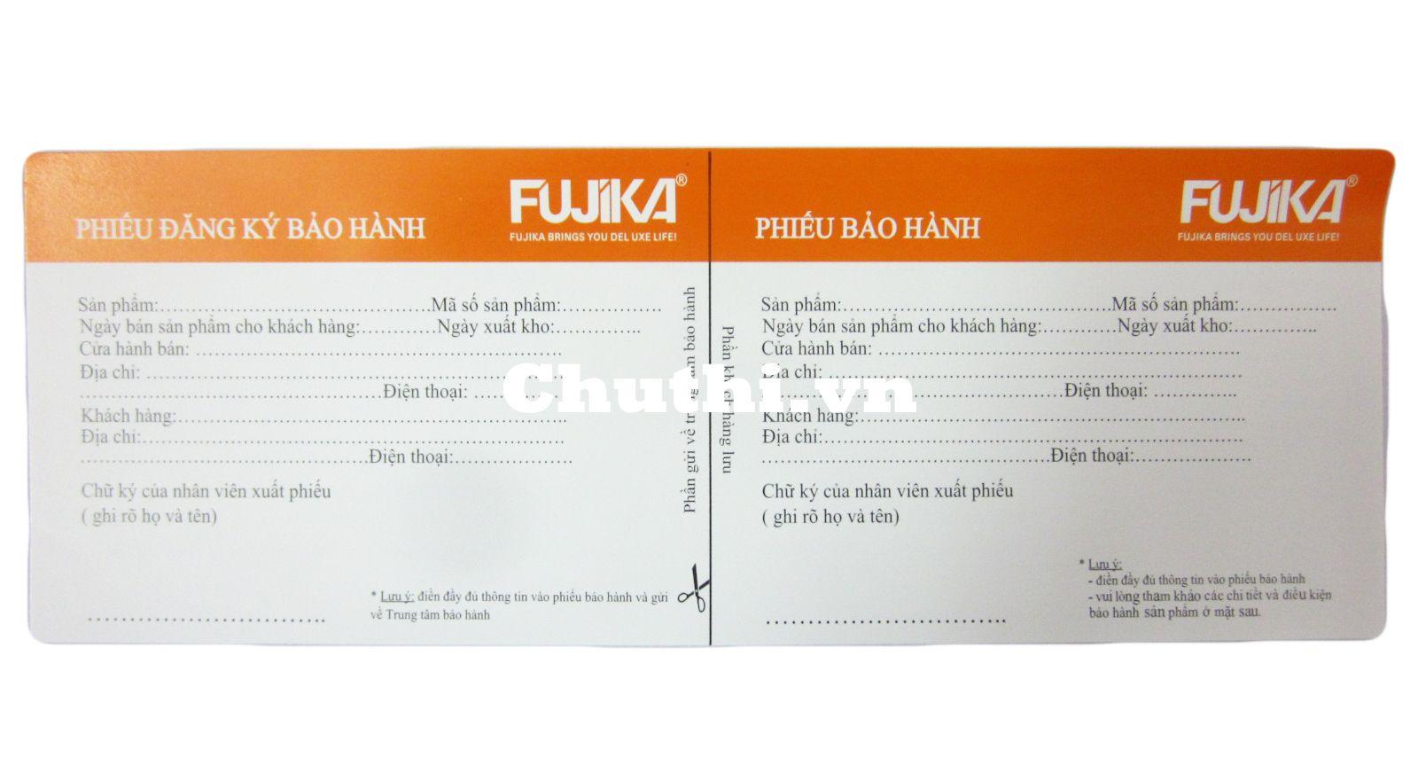 Sản phẩm bảo hành 12 tháng từ nhà sản xuất Fujika