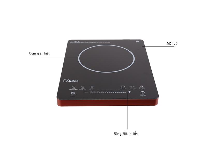Bếp hồng ngoại MIDEA MIRT2215DA, 2200W, ngang, 2 mâm nhiệt