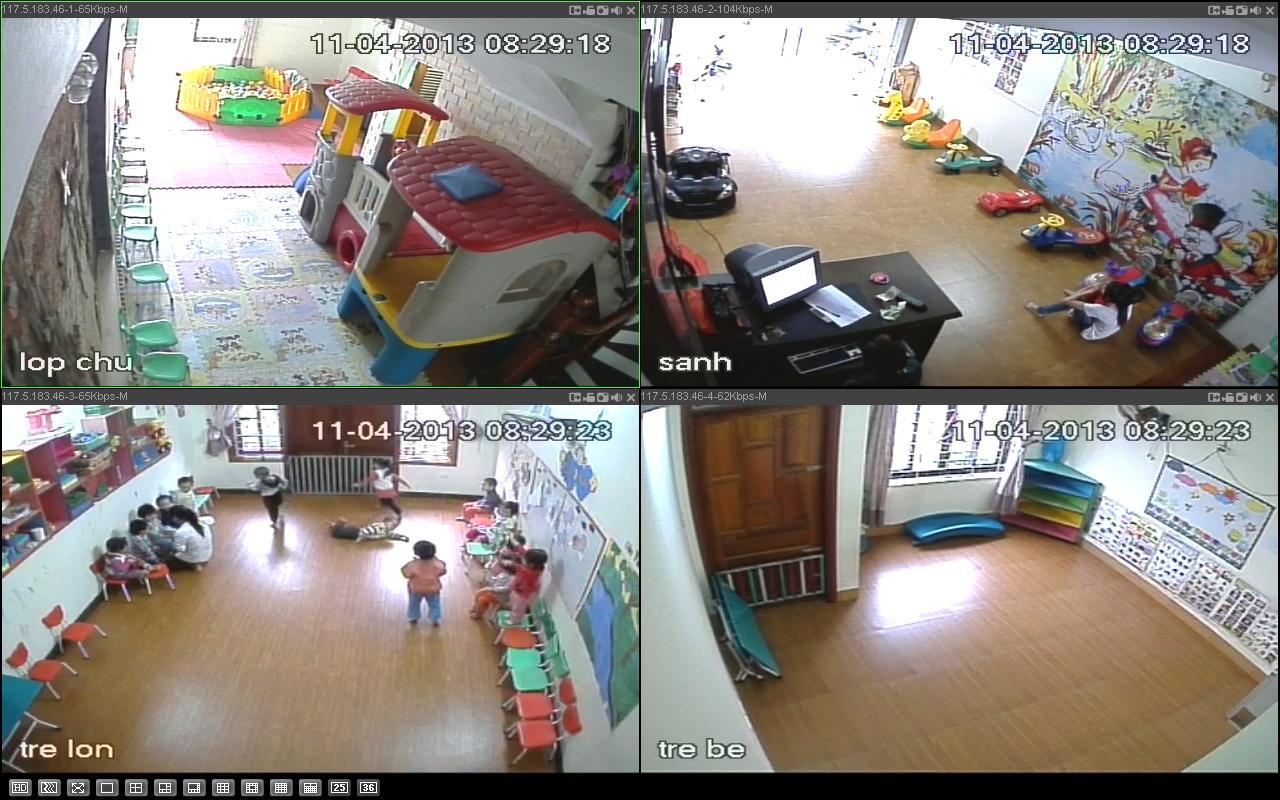Không chỉ nhà riêng, các trung tâm trông giữ trẻ cũng lắp đặt camera quan sát trông trẻ