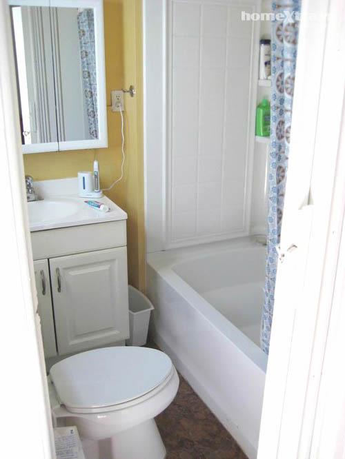 Nhét bồn tắm 'vừa khít' toilet chỉ 3m2 - 1