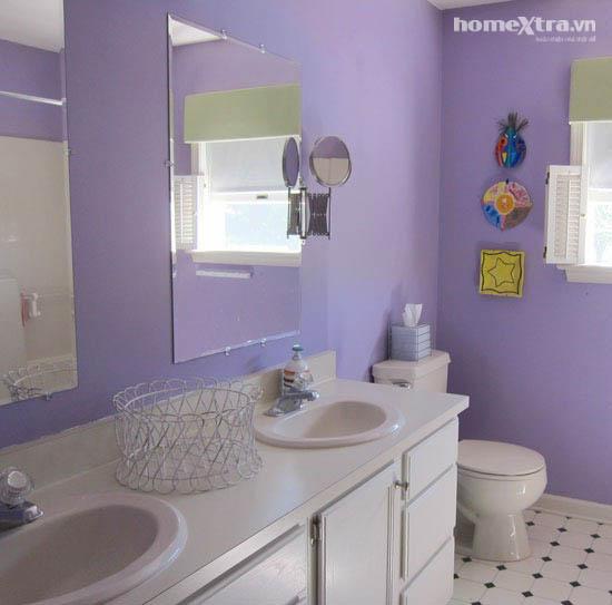 Phòng tắm đơn điệu trở nên đẹp rạng ngời sau cải tạo 1