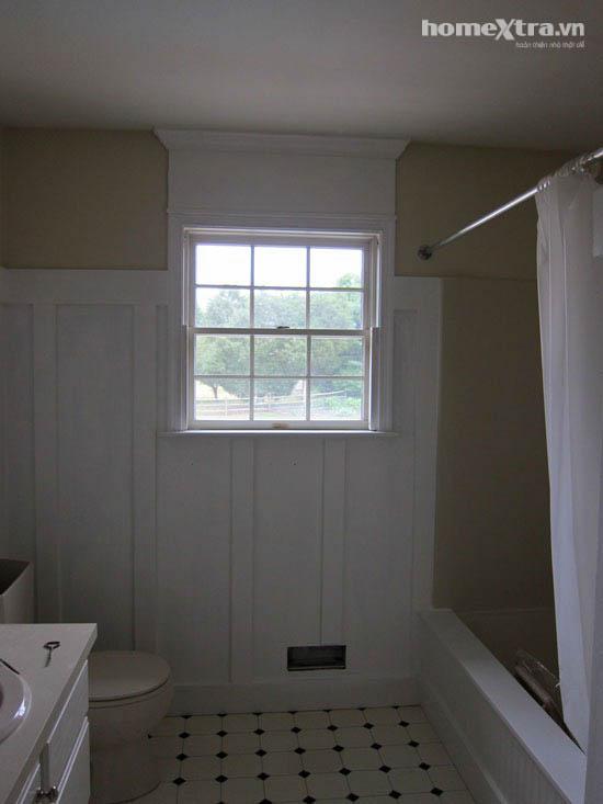 Phòng tắm đơn điệu trở nên đẹp rạng ngời sau cải tạo 11