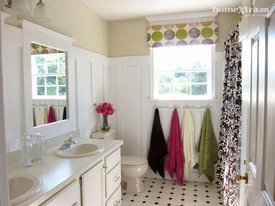 Phòng tắm đơn điệu trở nên đẹp rạng ngời sau cải tạo 2