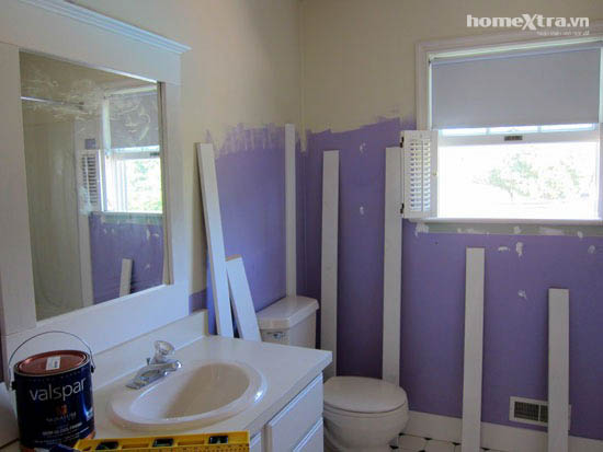 Phòng tắm đơn điệu trở nên đẹp rạng ngời sau cải tạo 3