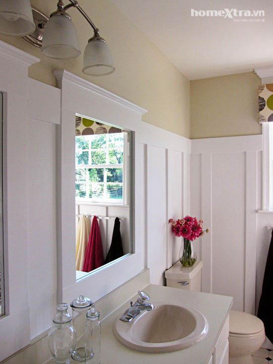 Phòng tắm đơn điệu trở nên đẹp rạng ngời sau cải tạo 4