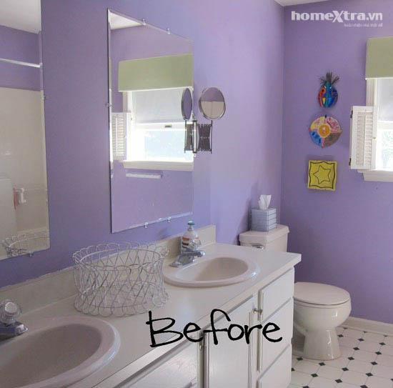 Phòng tắm đơn điệu trở nên đẹp rạng ngời sau cải tạo 5