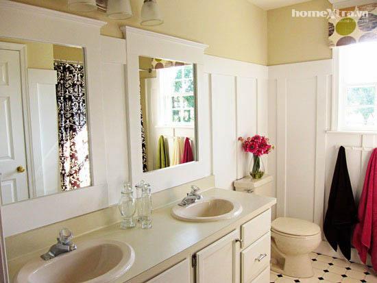 Phòng tắm đơn điệu trở nên đẹp rạng ngời sau cải tạo 7