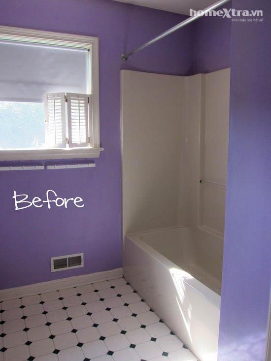 Phòng tắm đơn điệu trở nên đẹp rạng ngời sau cải tạo 8