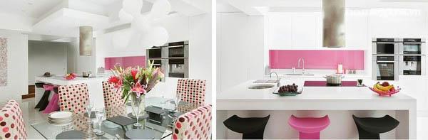 phòng bếp hồng 1