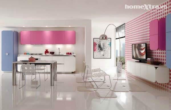 phòng bếp hồng3