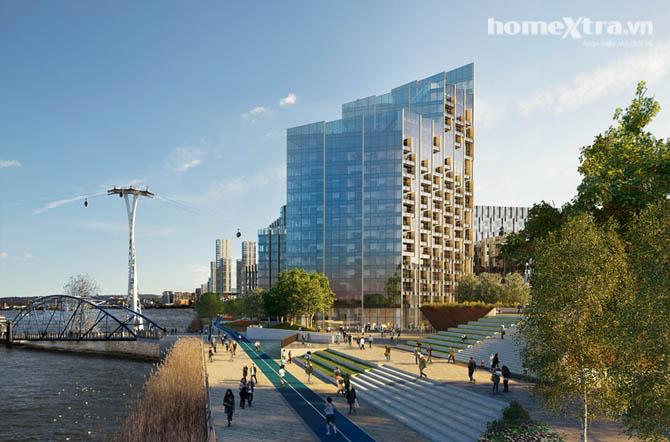 Thiết kế cho tòa nhà phủ kính đầy ấn tượng homextra