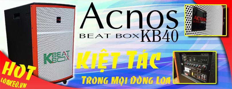Acnos Beatbox KB40 - Kiệt tác karaoke cho gia đình