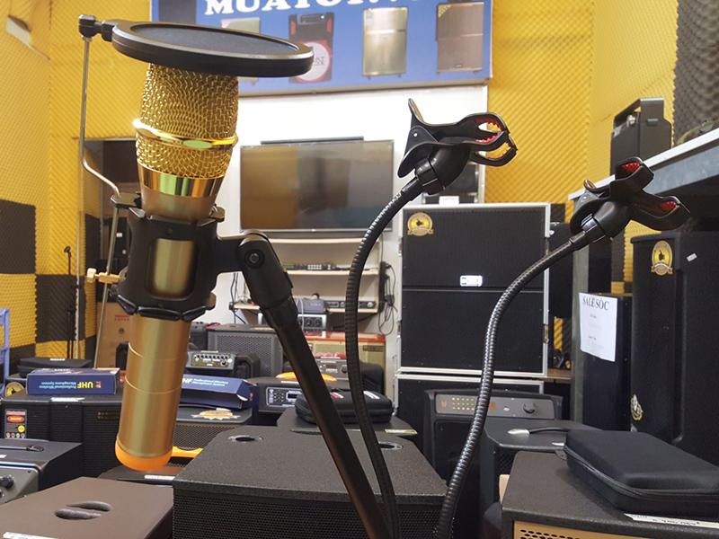 Giá đỡ live stream điện thoại tích hợp micro