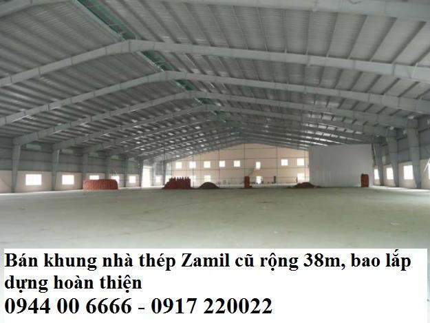 Khung nhà thép zamil cũ rộng 28m