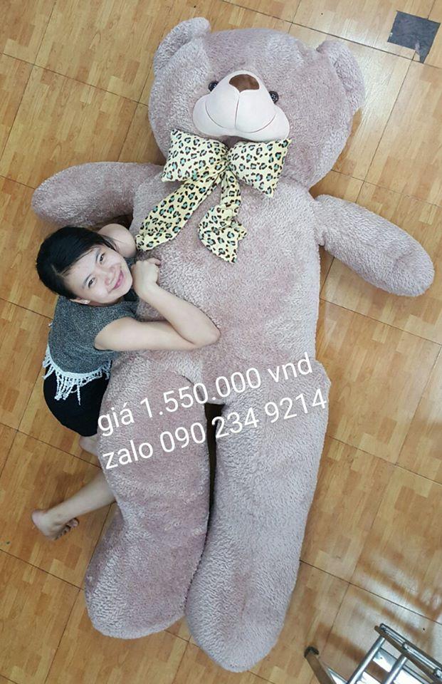 gấu bông to hơn người