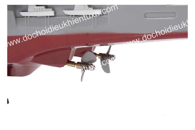 tàu điều khiển từ xa sân bay chân vịt 2 động cơ bằng đồng sóng radio
