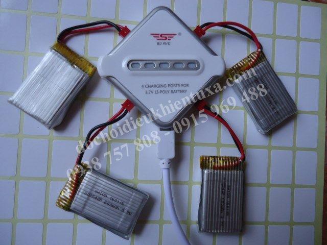 bộ sạc pin 4 đầu cho máy bay điều khiển từ xa x300 , x600 , x5