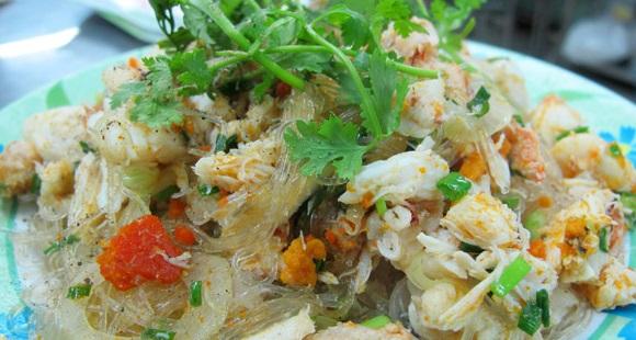 Miến xào thịt ghẹ Phú Quốc