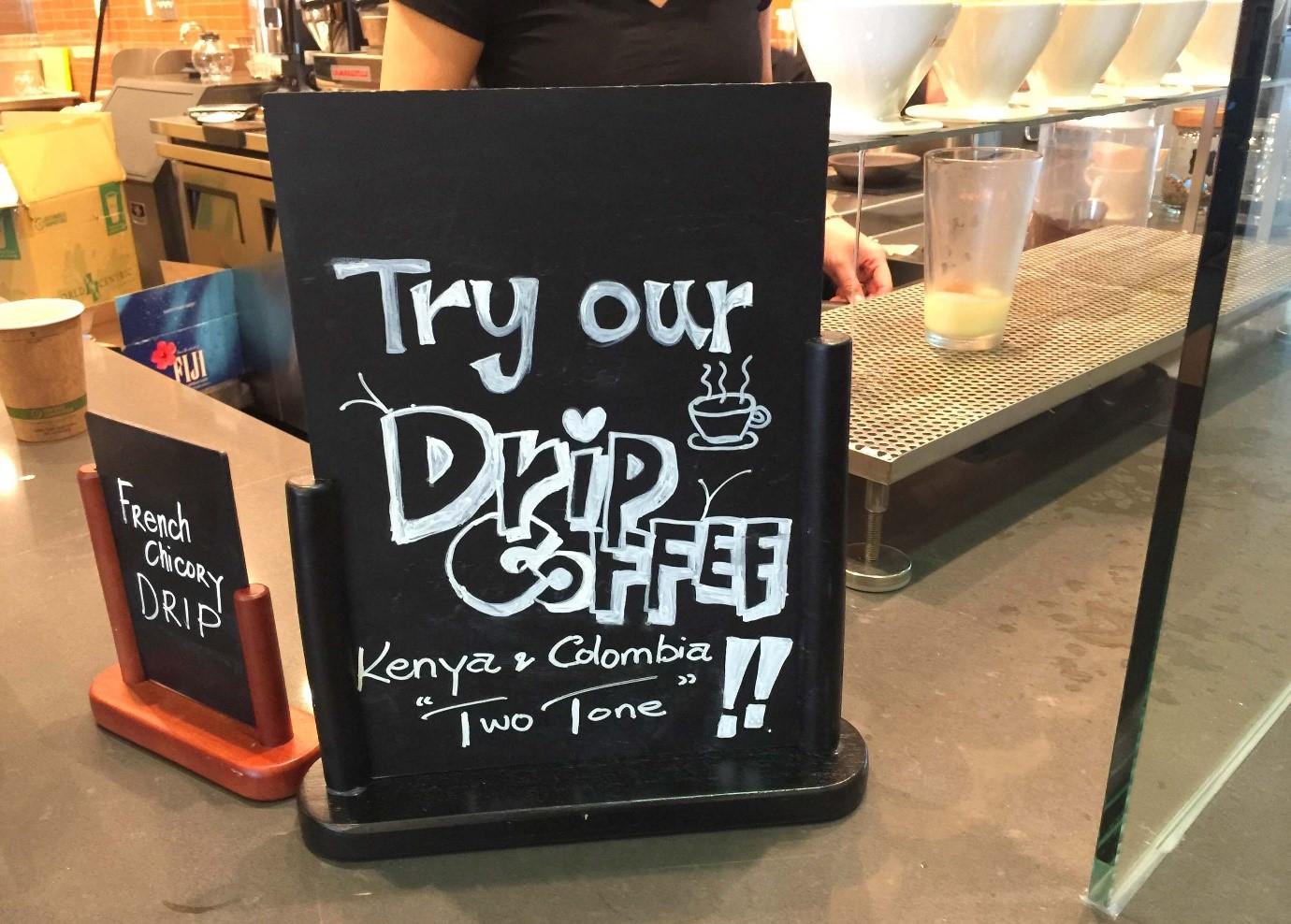 bảng menu cafe