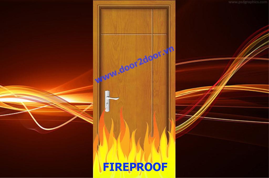 Cửa gỗ chống cháy 90 phút