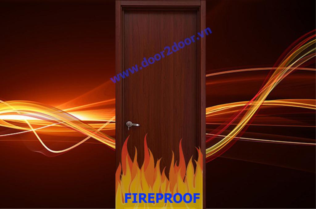 Cửa gỗ chống cháy 120 phút