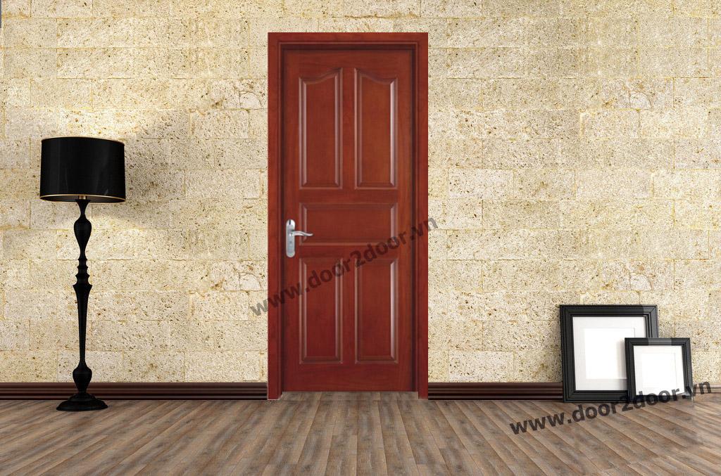 Cửa gỗ công nghiệp HDF Veneer 5 Panel