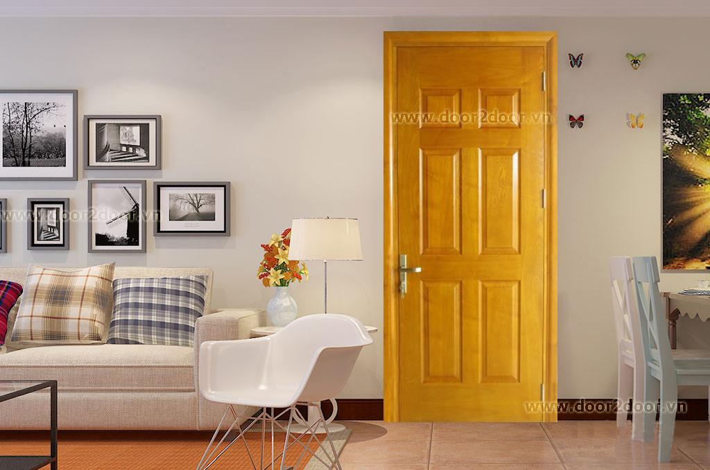 cửa hdf veneer ash 6 panel